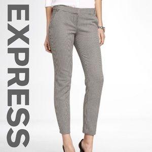 Express B&W Houndstooth Columnist Pants, 0R
